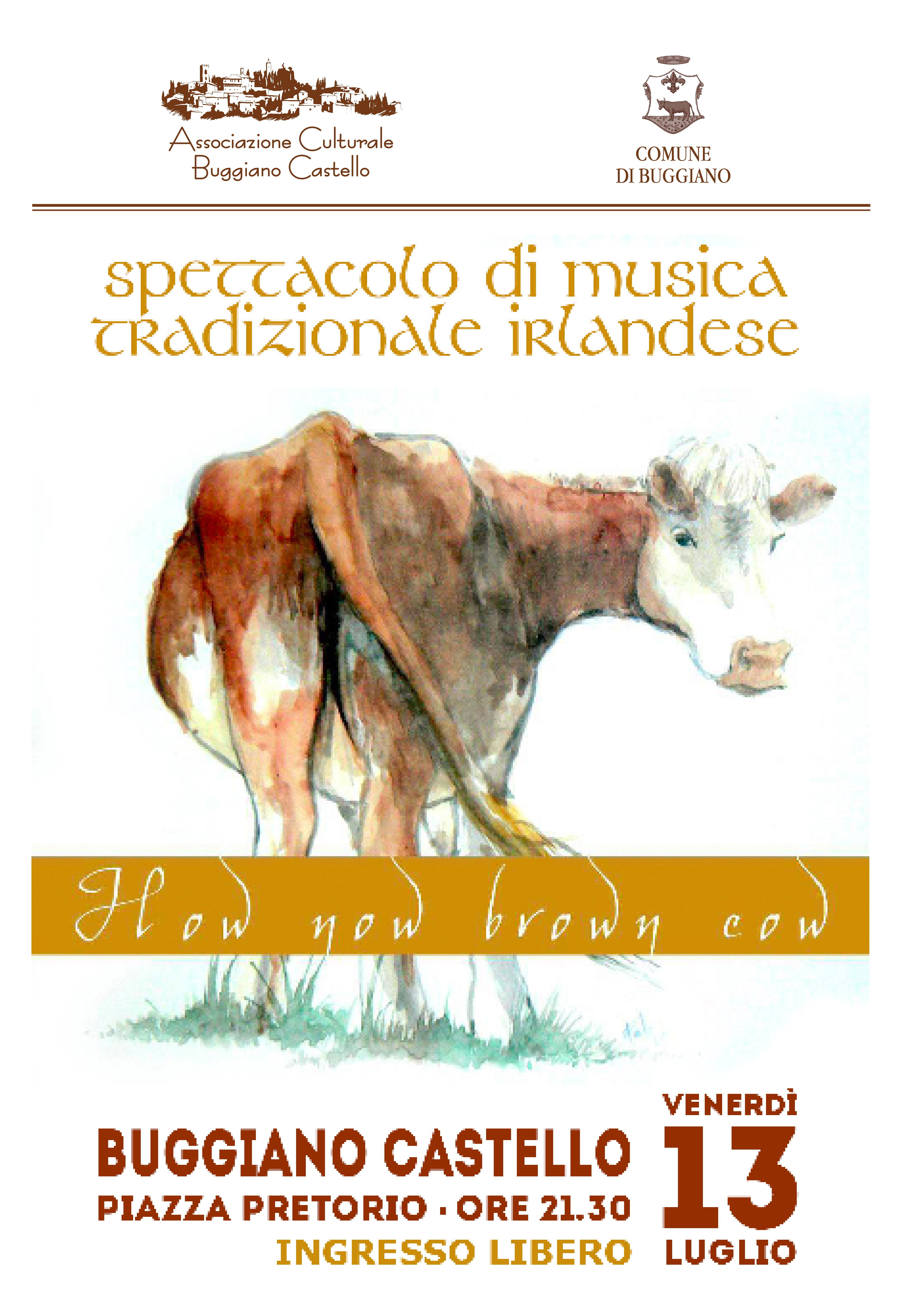 13 luglio ore 21,30 How Now Brown Cow solo musica irlandese